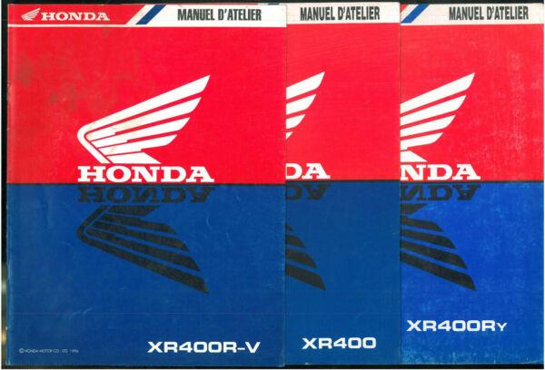 Revues D'atelier Complémentaire Honda Xr 400 R 1997 à 2000 Manuel Technique Ne03