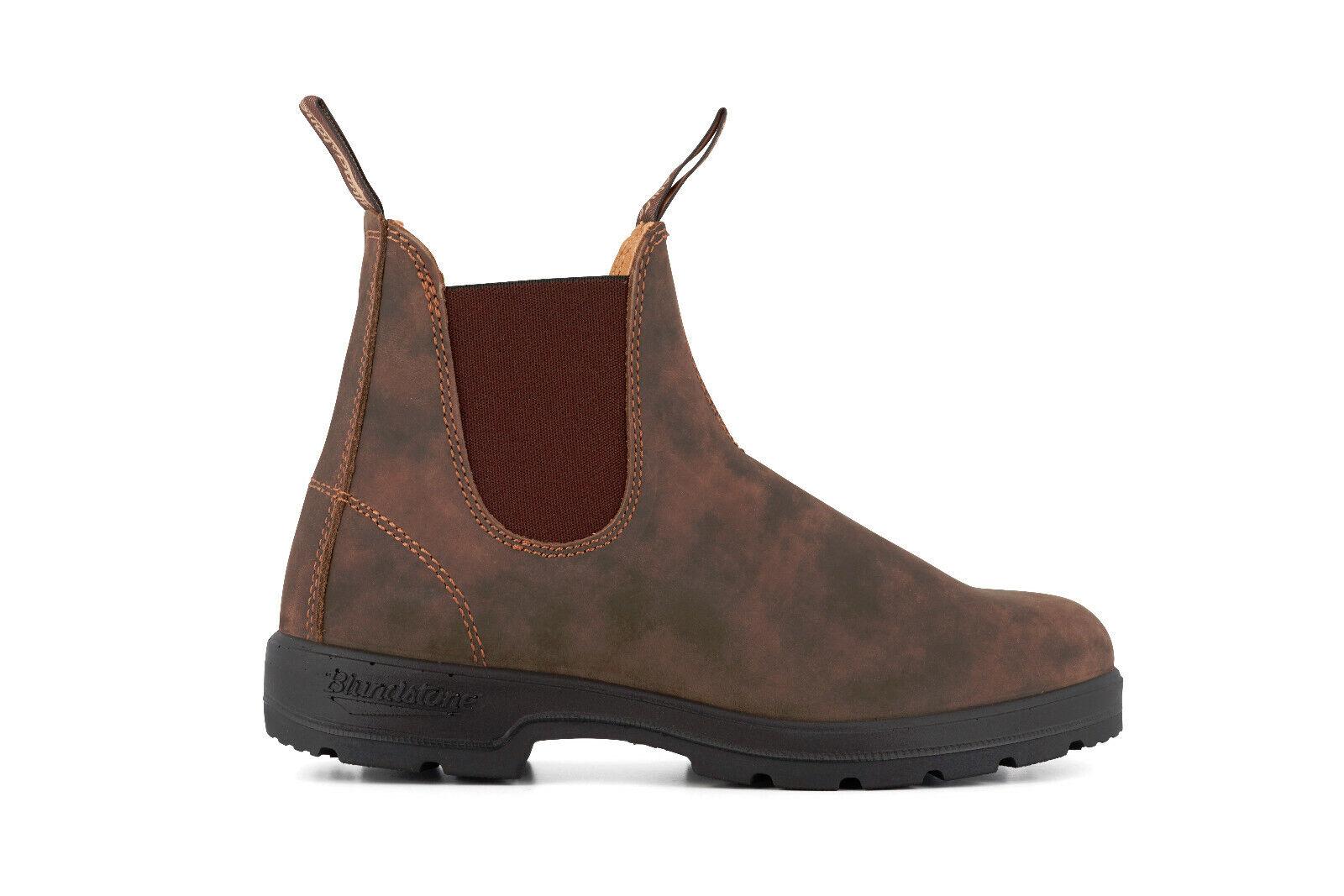 Blaundstone Style 585 Rustikal Braun Nubuk Leder Australisch Chelsea Stiefel