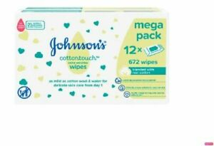 Pack Of 12 X 56 Wipes Total 672 Wipes Jackson Reece Unscented Baby Wipes