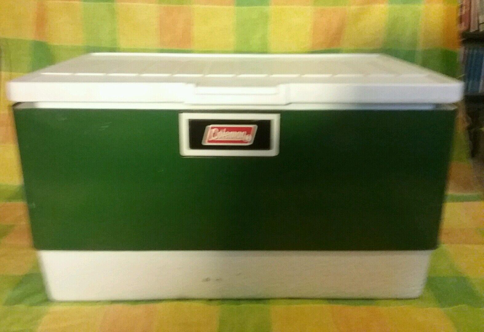 Vintage 1979 metal compact Coleman cooler green