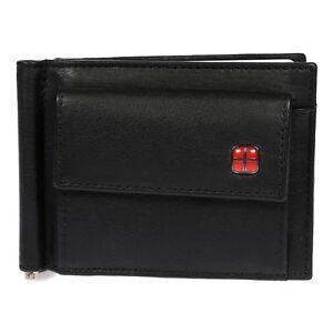 Slim-Herren-Damen-echt-Leder-Geldboerse-Geldklammer-RFID-Schutz-Portemonnaie