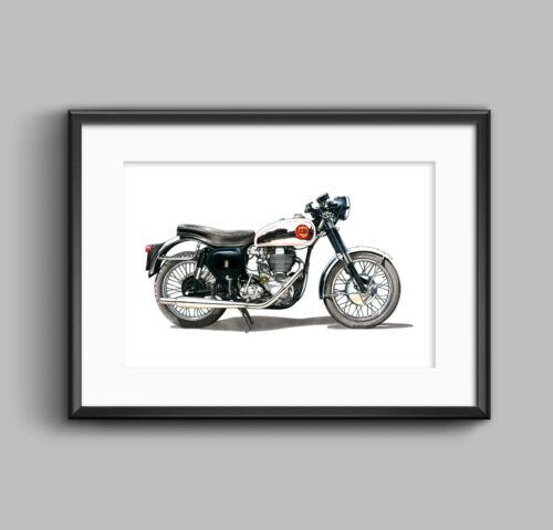 BSA Gold Star DBD34 Motorbike - POSTER PRINT A1 size