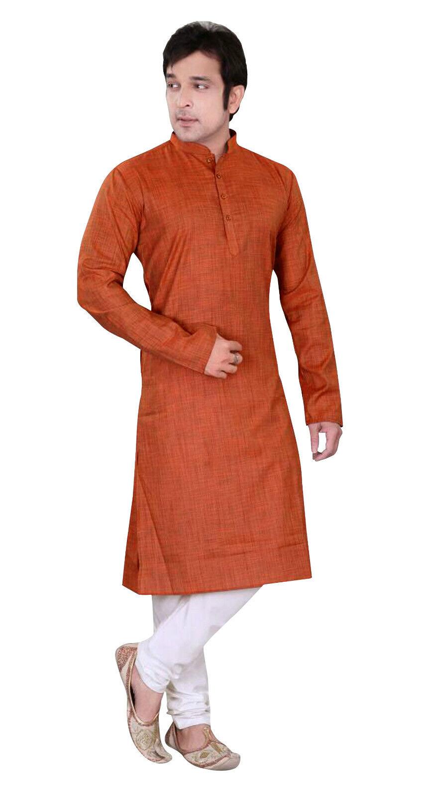Herren einfarbig traditionell Alltag Kurta Kameez Churidar Pyjama Indian | | | Sonderaktionen zum Jahresende  7bb659