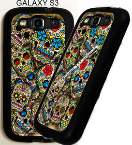 FOR-Samsung-Galaxy-s3-s4-s5-Note-4-Sugar-Skulls-D1-Phone-Case-Cover-pu-Dead-Day