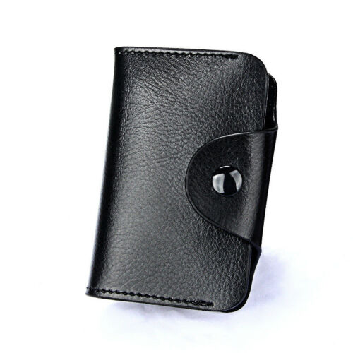 Mini Genuine Leather RFID Blocking Credit ID Card Holder Pocket Wallet Purse UK