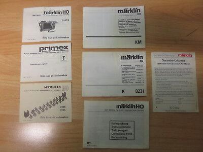 (d8/4) Märklin Istruzioni Operative Divers Per La Selezione-ungen Divers Zur Auswahl It-it Mostra Il Titolo Originale