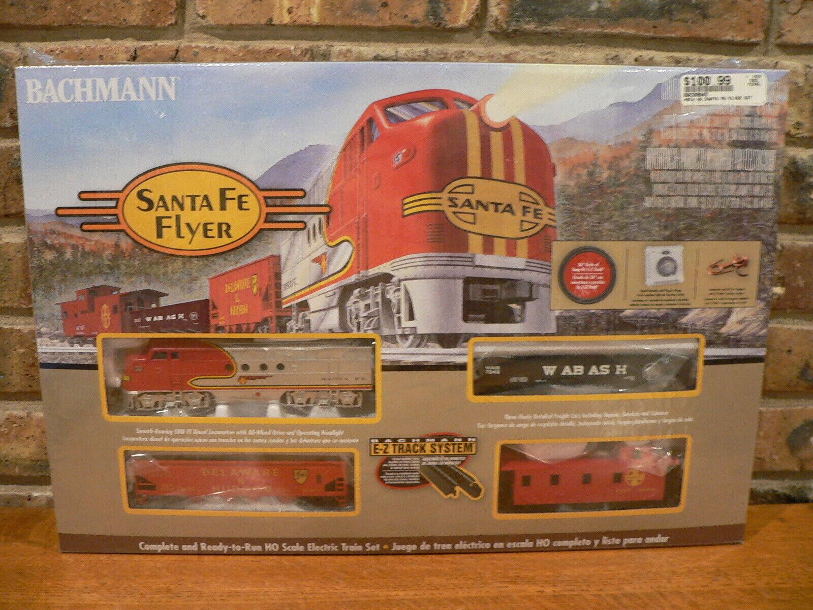 Bachmann Escala Ho Santa Fe Flyer modelo del ferroCocheril Train Set  00647  Nuevo, Sellado