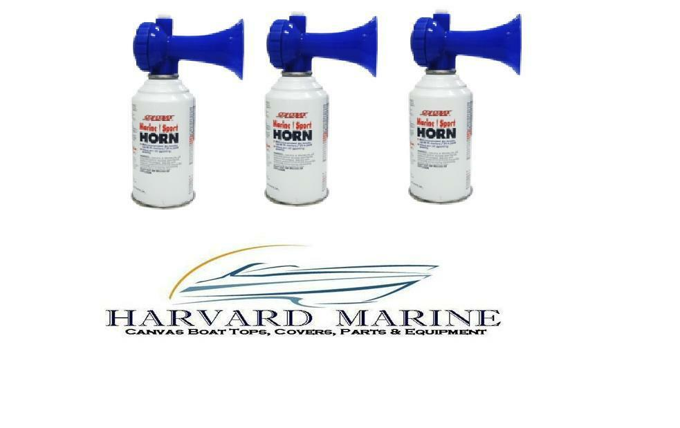 Lot of 3 Marine Boat Safety Sport Air Horn 8oz hunting camping fishing