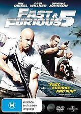 FAST & FURIOUS 5 - BRAND NEW & SEALED DVD (PAUL WALKER, VIN DIESEL) REGION 4