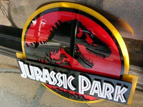 JURASSIC PARK 3D ART sign new 3-D Raptor TRex T-Rex Dinosaur weathered fossil