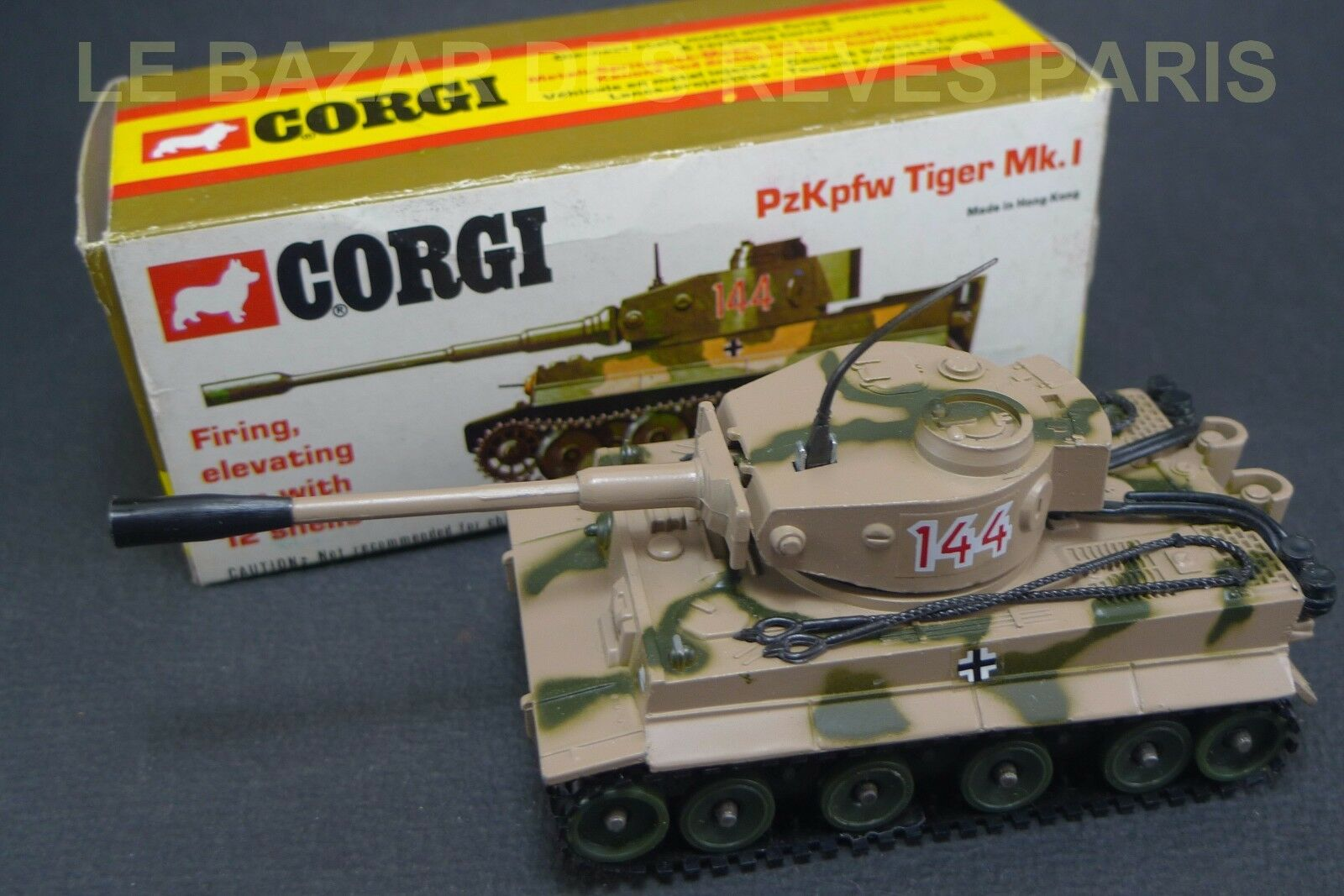 CORGI TOYS . Char tigre. WW2.  Neuf boite. REF  900
