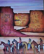 "Amado Pena Mini Prints /""TRES DEL PUEBLO/"" 1987 Signed B4 printing 8x10 in 7810"