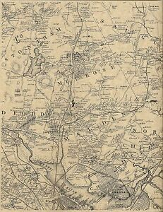 Chelsea Melrose Malden Everett Stoneham MA 1852 Map with Homeowners