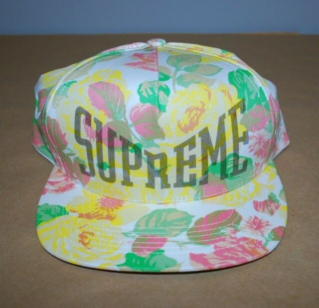 e06091915ca47 Supreme Floral 5 Panel White Hat SS18 Never Worn Brand New 100% AUTHENTIC