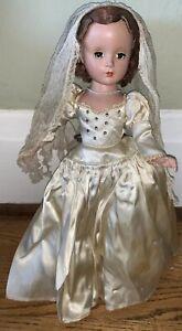 RARE-Vintage-Madame-Alexander-Lucy-Bride-Margaret-Face-1948-or-49-Suntan