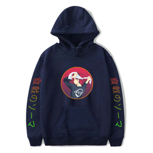 Anime Food Wars!Shokugeki no Soma Hoodie Casual Sweatshirt Pullover Coat Tops 02
