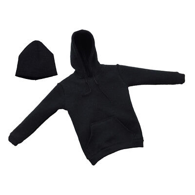 """1//6 Scale Black Hoodie Outfit /&Cap for 12/"""" HT PH Male Action Figure Body Toy"""