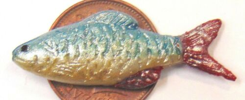 Escala 1:12 de arcilla polimérica individual tumdee de pescado Casa de Muñecas Cocina Accesorio Tienda P