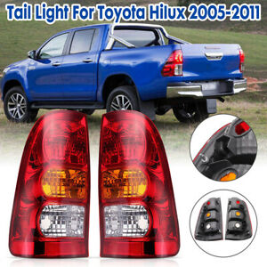 Pair-Rear-Tail-Brake-Light-Lamp-For-Toyota-Hilux-2WD-4WD-Ute-Emark-2005-2011-New