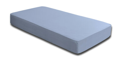 2 Fitted Sheet 180x200-200x220 cm Light Blue Elastane boxspringbett Water Bed