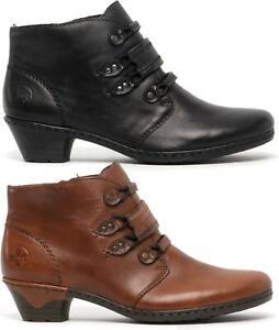 Heel Block Leather Real damen Ladies 76984 24 Rieker Casual