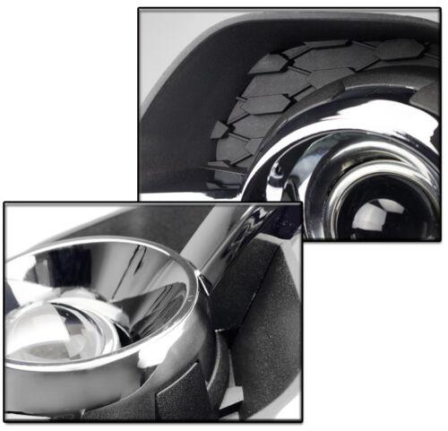 2010-2015 CHEVY EQUINOX CHROME FRONT BUMPER DRIVING FOG LIGHT LAMP+10K XENON HID