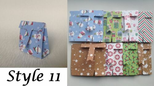 Assorted Styles in sets of 8 Christmas Carton//Gift Boxes