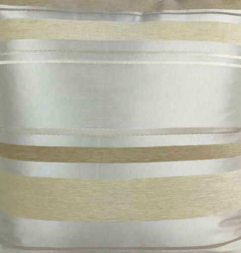 """Crème Bandes 17x17/"""" Lot de 4 Rempli Coussin-satin crème avec diverses GOLD"""