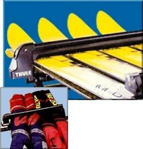 Thule-System-597-Clamp-On-Horizontal-Ski-Carrier-for-4-Pairs-of-Skis