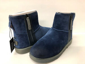cdc9f4804dd Details about UGG CLASSIC MINI ZIP WATERPROOF MEN ANKLE BOOT SUEDE NAVY US  9 /UK 8 /EU 43.5