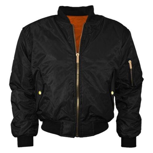 MA1 Mens Army Pilot Biker Bomber Fly Military Security Doorman Harrington Jacket