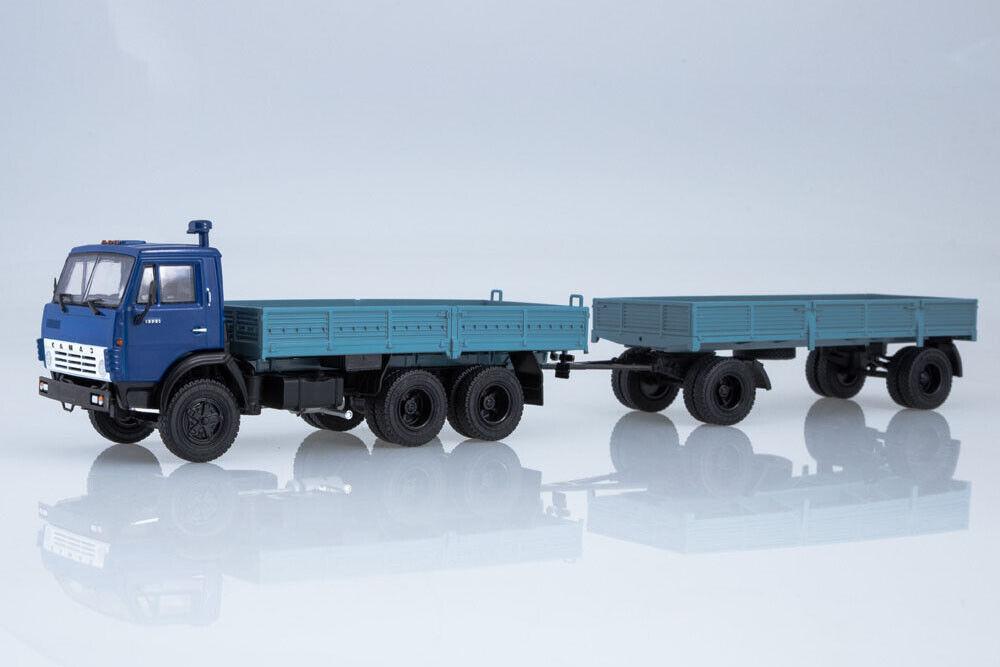 calidad oficial Kamaz 102071 1 43 Kamaz Kamaz Kamaz - 5320 with gkb-8350 trailer  suministro directo de los fabricantes