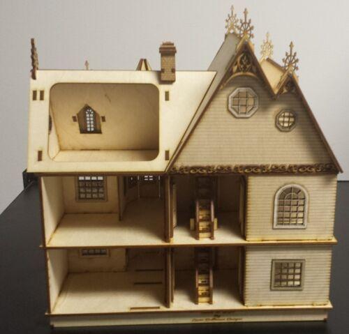 Jasmine Gothic Victorian Dollhouse Quarter 1:48 scale Kit