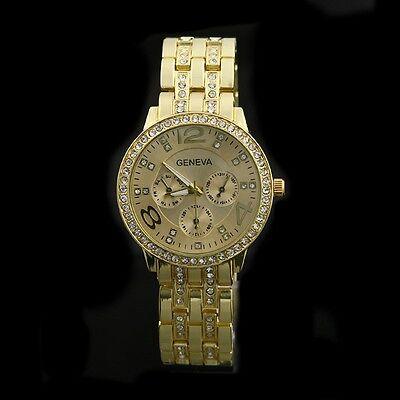 Armbanduhr Uhr Edelstahl watch Damen Herren wristwatch Strass Crystal
