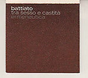 CD-SINGLE-PROMO-FRANCO-BATTIATO-Tra-sesso-e-castita-MINT-2004-RARO-SONY