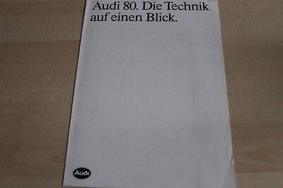 Technische Daten Prospekt 07/1988 106009 Audi 80