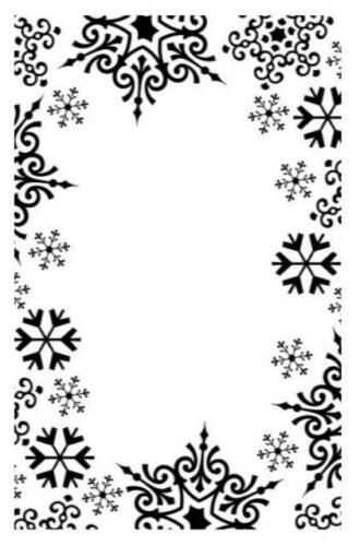 4.25 x 5.75 Darice Embossing Folder SNOWFLAKE BORDER 1219-135