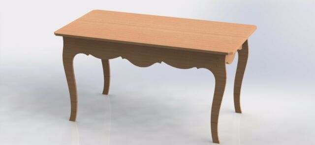 Provencal Table Design For CNC Router Aspire ArtCAM VCarve Vectors DXF Files