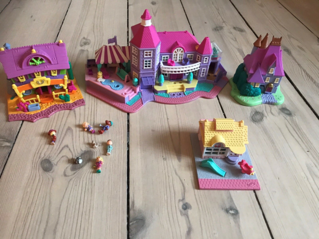Dukkehus, Polly pocket, Super fine retro polly pocket huse.…