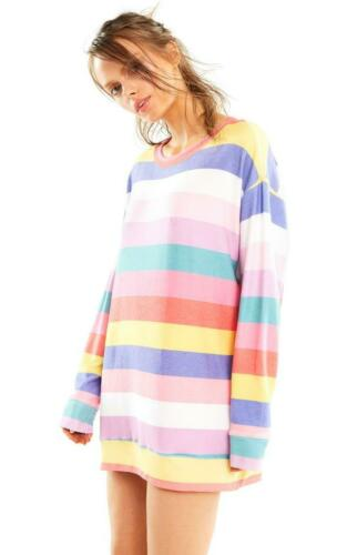 Wildfox Couture women/'s Stripe Roadtrip sweater size XS-XL new orginal $124 cute