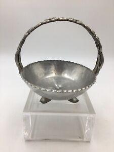 Vintage-Aluminum-Basket-Cut-out-Work-Floral-Design-Hammered