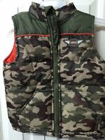 Boys Camouflage Vest Jacket Size 3t Healthtex Green Outwear Thick Zip