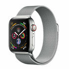 Apple Watch Series 4 44 mm Stainless Steel Case with Milanese Loop (GPS + Cellular) - (MTV42LL/A)