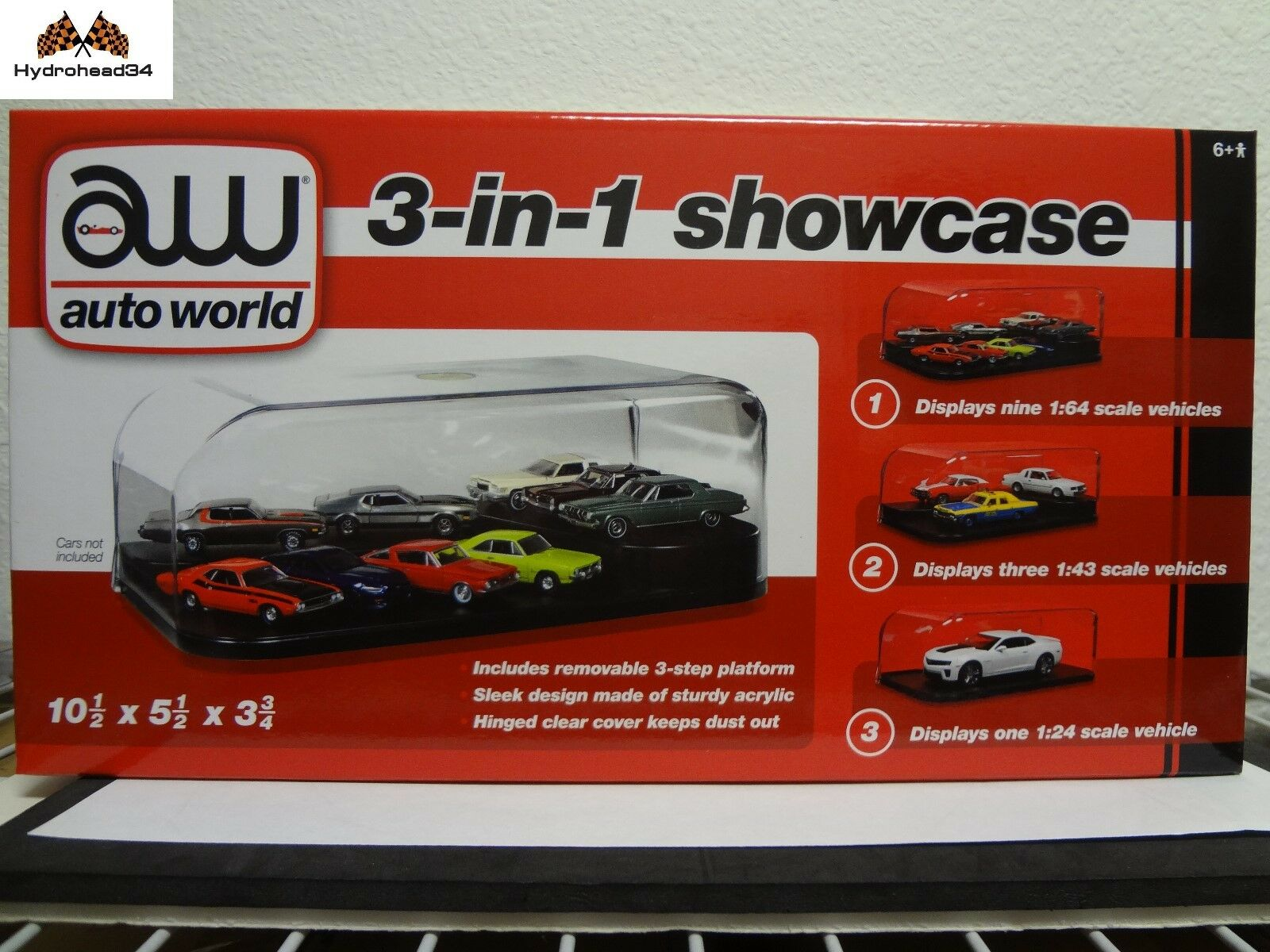 Auto World 8 X Acrylic Display Case for 3 in 1 - 1 64 or 1 43 or 1 24 CASE