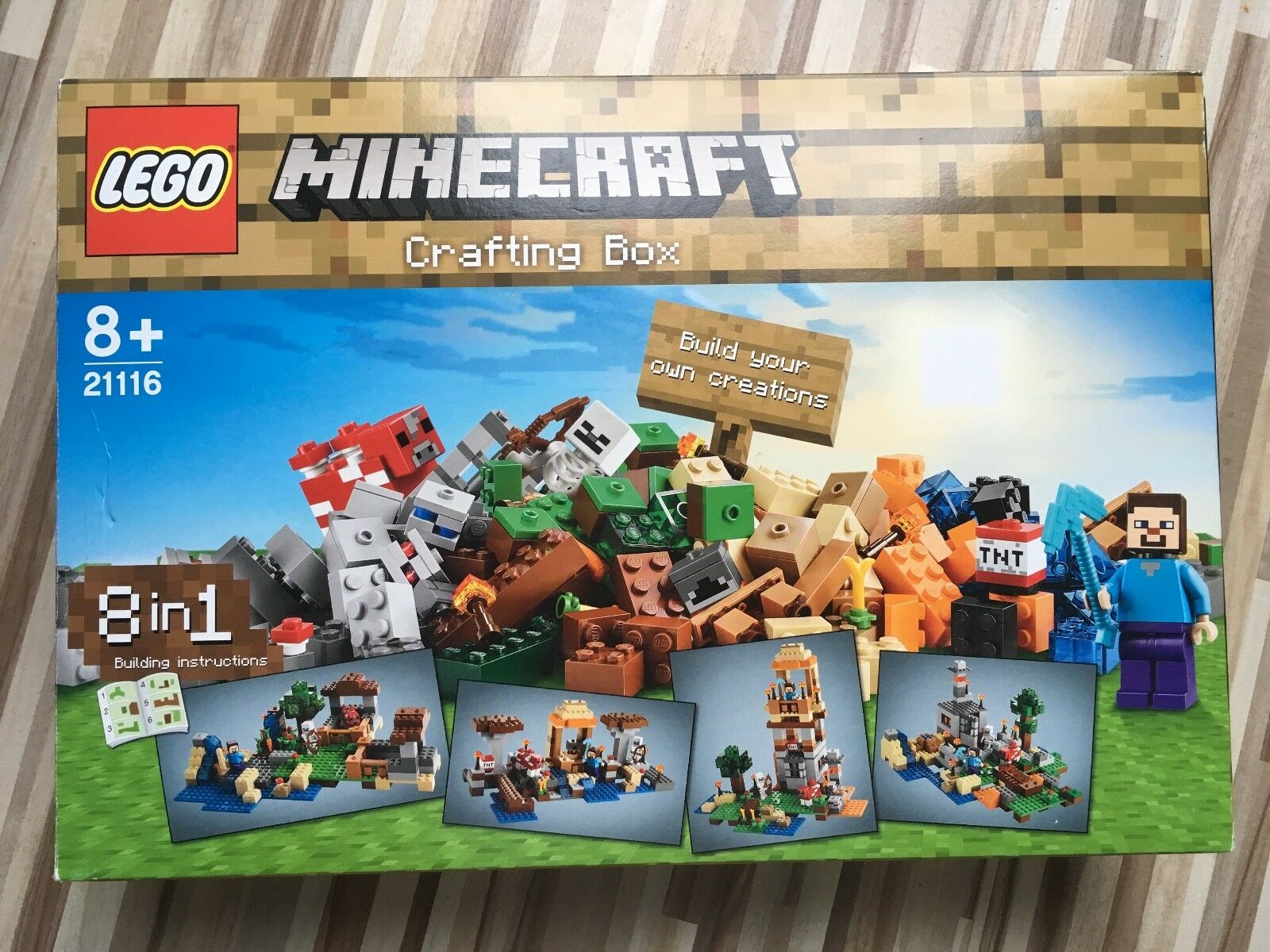 LEGO  21116  Minecraft Crafting-Box  komplett  OVP