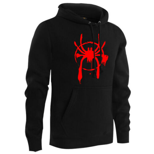 Spider-Man Into the Spider-Verse Mile Morales Hoodie Pullover Sweater Cosplay