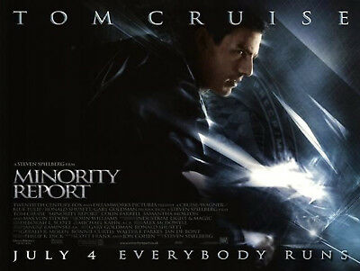 Minority Report 2002 Tom Cruise Colin Farrell Max Von Sydow Uk Quad Poster Ebay