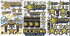 New 3 Rockstar Energy Motocross ATV Racing Graphic stickers/decals. (set7)