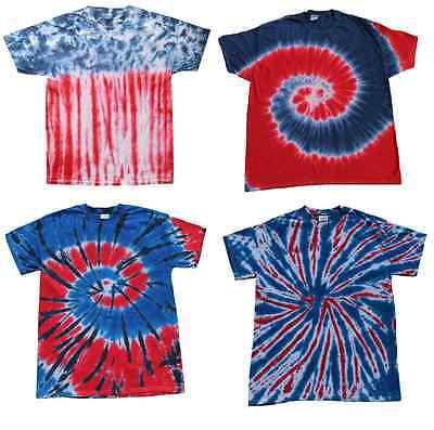 Short Sleeve Kids Sizes Multi-Color Patriotic Tie Dye T-Shirts 100/% Cotton