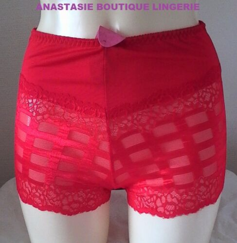 lingeriegrandes tailles sexyfemme shorty haut dentelle stretch rouge 44//46//48//50